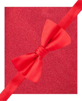 Alfani Men Red Bow Tie & Silk Pocket Square Set