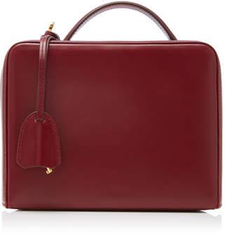 Mark Cross Grace Leather-Trimmed Rattan Bag