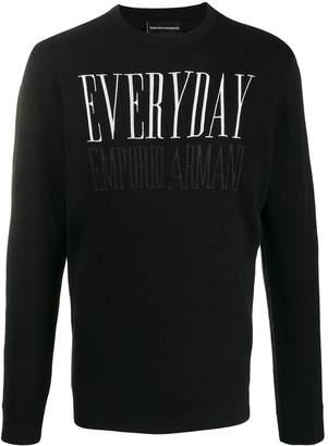 Emporio Armani embroidered 'Everyday' jumper