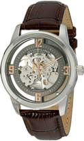 Stuhrling Original Men's 877.03 Winchester Automatic Self-Wind Skeleton Brown Genuine Leather Strap Watch