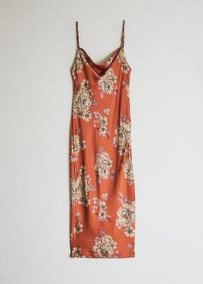 Stelen Women's Veronika Floral Dress in Rust, Size Medium | Spandex