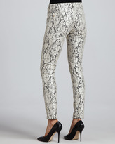 7 For All Mankind The Skinny Orchid Lace-Overlay Skinny Jeans