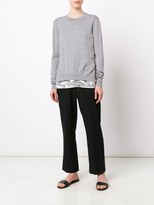 Jason Wu Crew Neck Pullover With Lace Hem