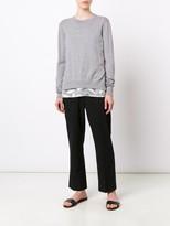 Jason Wu L/S Crew Neck Pullover W/ Lace Hem
