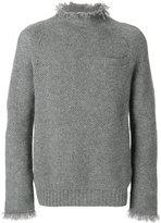 Sacai frayed chunky knit sweater