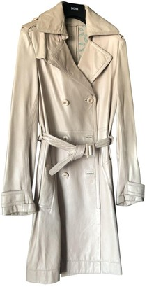 Patrizia Pepe Beige Leather Trench Coat for Women