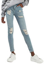 Topshop MOTO Bleach Super Rip Jamie Jeans