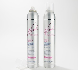 Nick Chavez Plump N' Thick Thickening Hairspray 10-oz Duo