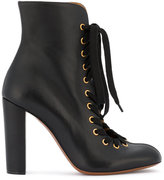 Chloé Black Miles lace up ankle boots - women - Leather - 36