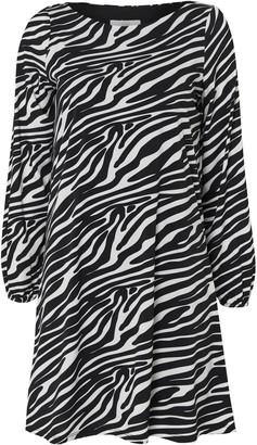 Wallis PETITE Zebra Print Jersey Swing Dress