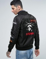 Reason Bomber Jacket With Patches