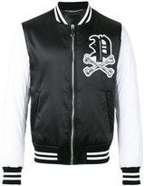 Philipp Plein skull patch bomber jacket - men - Nylon - L