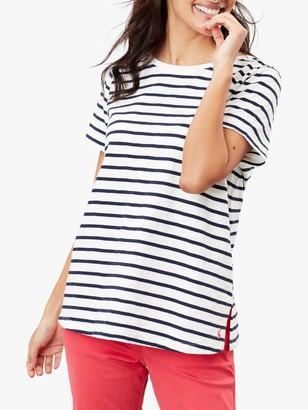 Joules Alverton Striped T-Shirt, Cream/Navy