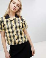 Fred Perry Amy Winehouse Foundation Plaid Check Bowling Shirt
