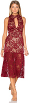 Endless Rose Sleeveless Lace High Neck Midi Dress