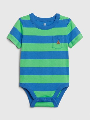 Gap Baby Brannan Bear Stripe Bodysuit