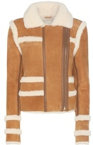 Carven Shearling And Suede Jacket