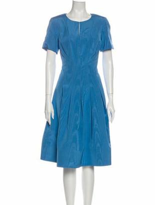 Oscar de la Renta 2020 Midi Length Dress Blue