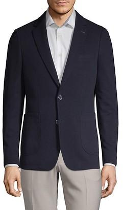 Nhp Extra Slim Fit Textured Notch Lapel Sport Jacket