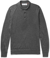 Brunello Cucinelli - Contrast-tipped Cashmere And Silk-blend Polo Shirt