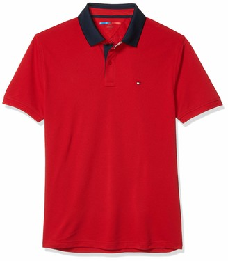 Tommy Hilfiger Men's Sport Moisture Wicking Polo Shirt with Quick Dry and UV Protection