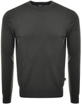 Giorgio Armani Jeans Knitted Crew Neck Jumper Green