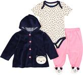Blue Kitty Velour Ruffle-Accent Jacket Set - Infant