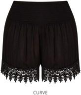 boohoo Plus Crochet Trim Flippy Short