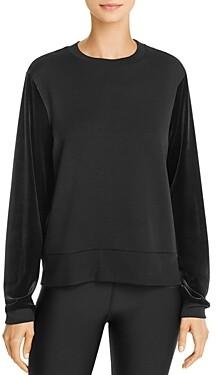 Beyond Yoga Velvet-Sleeve Sweatshirt
