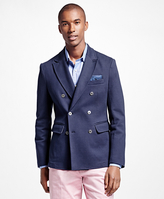 Brooks Brothers Cotton Twill Double-Breasted Blazer