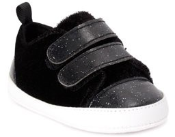 First Steps by Stepping Stones First Walker Glitter Two-Strap Casual Sneaker (Infant Girls)