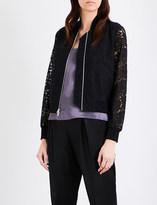 Diane von Furstenberg Kennadie floral-lace bomber jacket