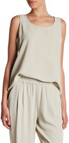 Eileen Fisher Crinkled Crepe Tencel(R) Blend Tank (Petite)