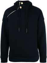 Pierre Balmain side zip hoodie - men - Polyester/Virgin Wool - 52