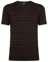 Giorgio Armani Aztec Woven Seersucker T-shirt