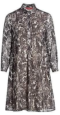 Marina Rinaldi Marina Rinaldi, Plus Size Women's Damiere Printed Georgette Shirt Dress