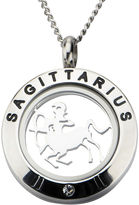 JCPenney FINE JEWELRY Sagittarius Zodiac Cubic Zirconia Stainless Steel Locket Pendant Necklace