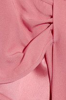 RED Valentino Bow-embellished crepe dress