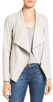 BB Dakota 'Kenrick' Drape Neck Leather Jacket