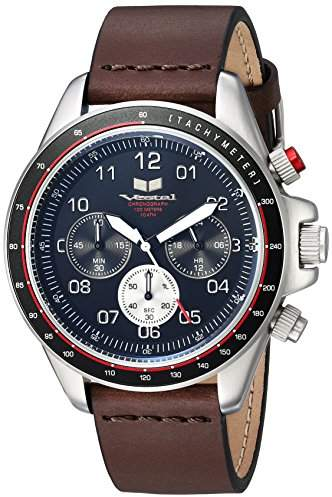 Vestal ' ZR2 Leather' Quartz Stainless Steel Casual Watch