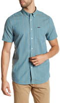 Volcom Quincy Stripe Modern Fit Short Sleeve Shirt