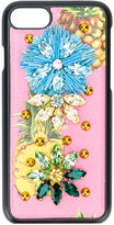 Dolce & Gabbana pineapple iPhone 7 case - women - Calf Leather/PVC - One Size