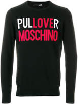 Love Moschino logo sweater