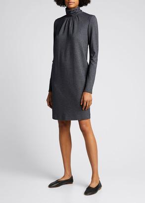 Max Mara Maniero Turtleneck Wool-Blend Dress