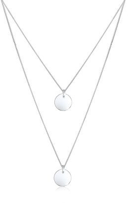 Elli Necklace Layer Look with Geo Minimal Platelet Pendants in 925 Sterling Silver