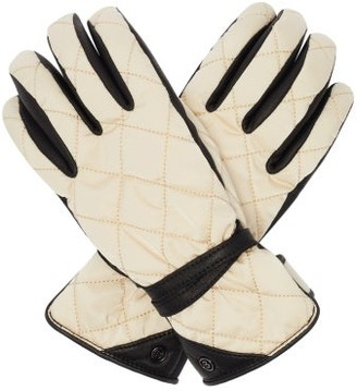 Bogner Cindy Quilted Soft-shell And Leather Gloves - Light Beige