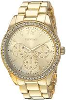 Ellen Tracy Women's Quartz Metal and Alloy Watch, Color:Gold-Toned (Model: ET5218GD)