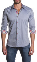 Jared Lang Spread Collar Semi-Fitted Shirt