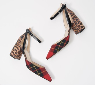 Marc Fisher Pointed Toe Pumps with Ankle Straps - Raie