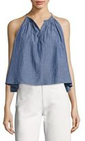 Apiece Apart Galisteo Chambray Halter Crop Top